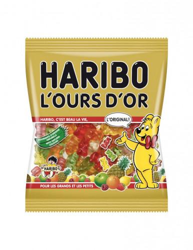 Sacchetto con caramelle orso dorato Haribo