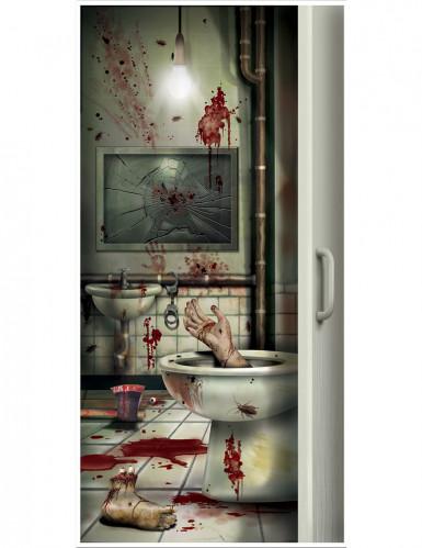 Decorazione per la porta del bagno