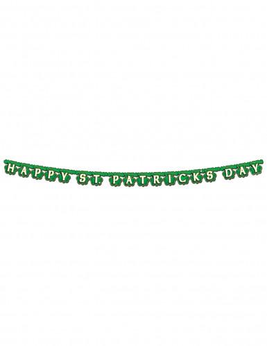 Ghirlanda verde Happy St; Patrick's Day-1