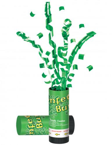 Tubo sparacoriandoli e stelle filanti verdi