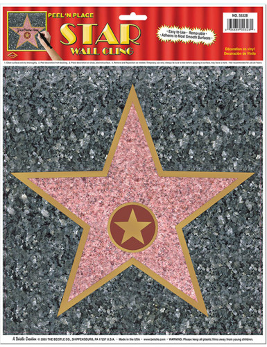 Decorazione stella Walk of Fame da muro