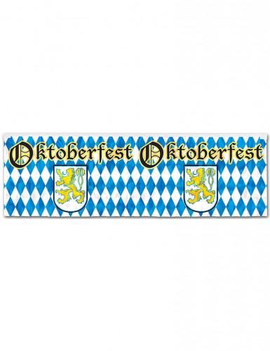 Banner bianco e blu per festa della birra