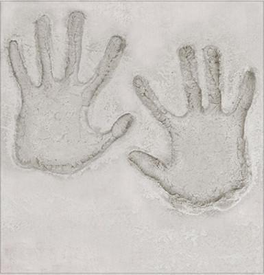 Decorazione da parete con impronta delle mani