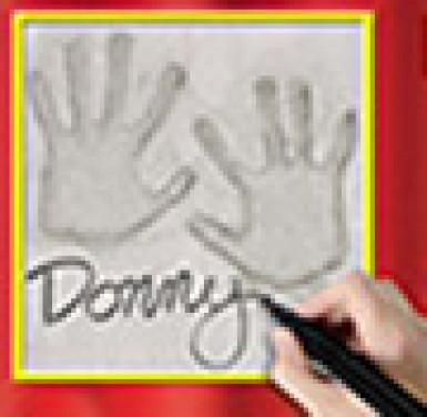 Decorazione da parete con impronta delle mani-1