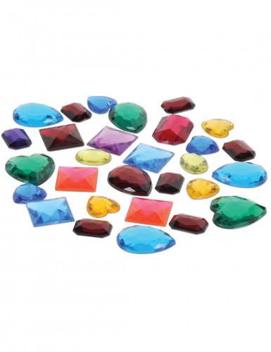 Sacchetto con 31 pietre preziose finte