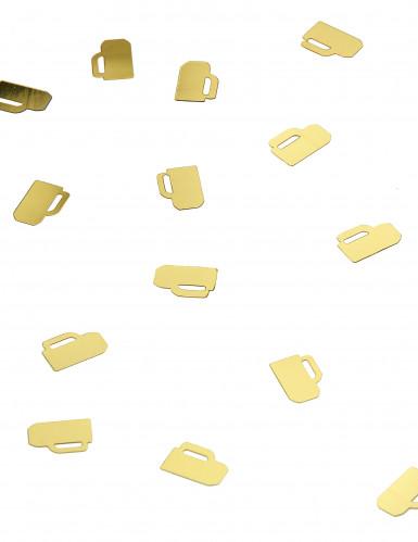 Coriandoli a forma di boccali di birra