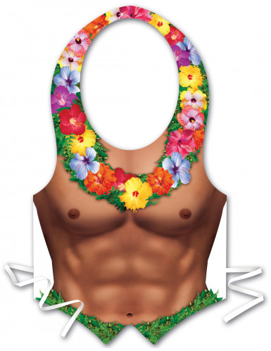 Grembiule uomo di plastica Hawaii