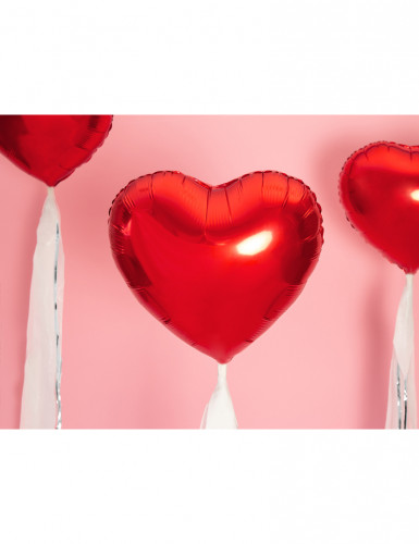 Palloncino alluminio rosso a cuore-1