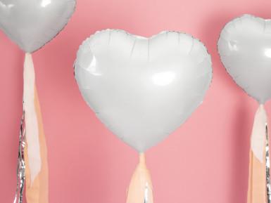 Palloncino alluminio cuore bianco 45 cm-1