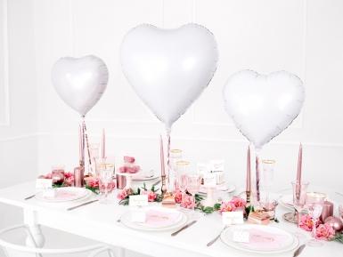 Palloncino alluminio cuore bianco 45 cm-2