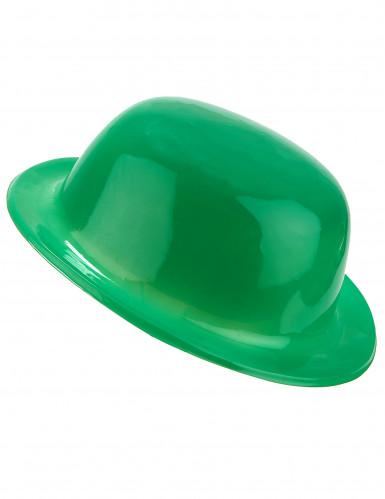 Cappello a bombetta verde per adulto