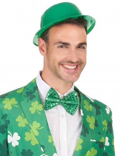 Cappello a bombetta verde per adulto-2