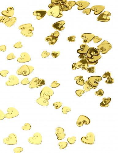 Coriandoli a cuore colore giallo oro