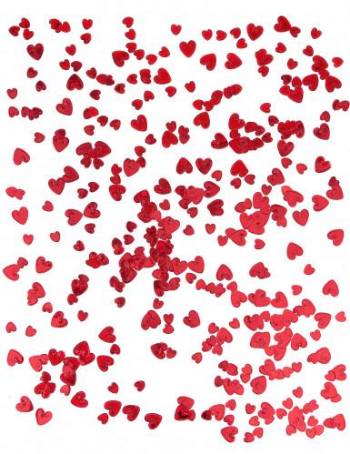 Coriandoli in rilievo a cuori rossi-1