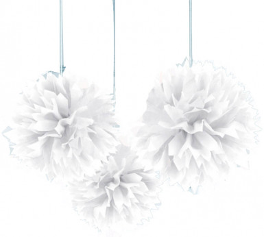Decorazioni da appendere a forma di palle bianche