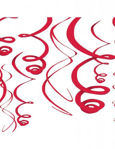 Decorazioni sospese rosse elicoidali