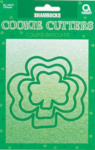 3 formine per biscotti verdi trifoglio