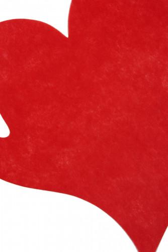 50 set da tavola a forma di cuore di colore rosso-1