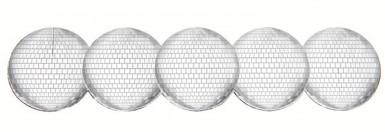 Set portatovaglioli a sfera con sfaccettature in argento
