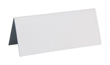 10 Segnaposti rettangolari bianchi