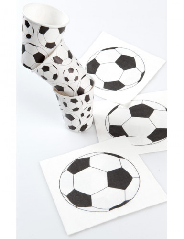 10 bicchieri di carta palloni calcio-1