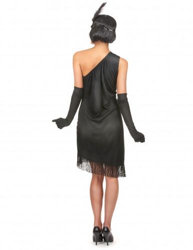 Costume Charleston di colore nero e rosso per donna-2