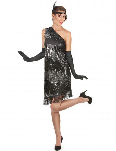 Costume argento e nero donna anni '20.-1
