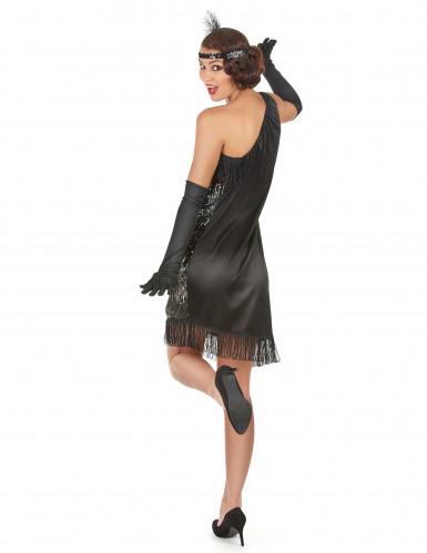 Costume argento e nero donna anni '20.-2