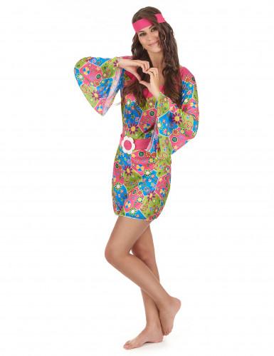 Costume Hippy floreale per donna-1