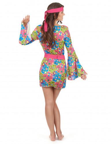 Costume Hippy floreale per donna-2