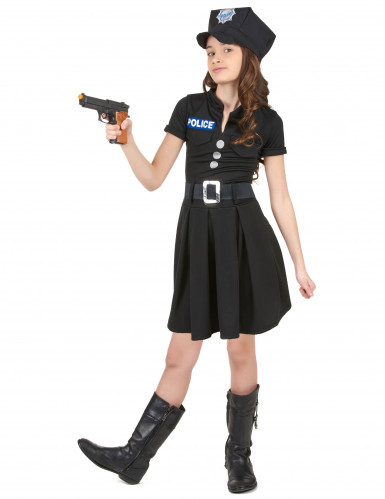 Costume da agente di polizia per bambina-1