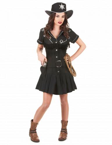 Costume nero cowgirl donna