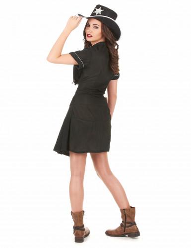 Costume nero cowgirl donna-2