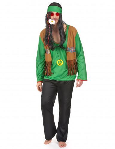 Costume verde da hippy per uomo