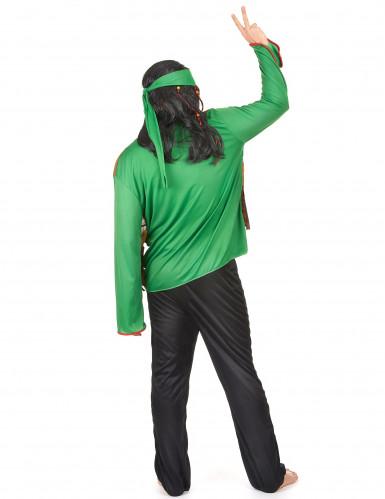 Costume verde da hippy per uomo-2