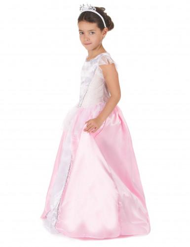 Costume rosa e bianco da principessa per bambina-1