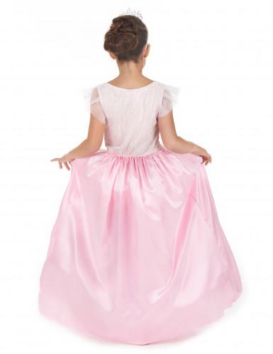 Costume rosa e bianco da principessa per bambina-2