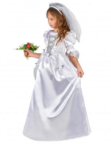 Costume per ragazza da sposa con velo-1