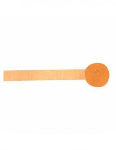 Rotolo carta crespa di colore arancione