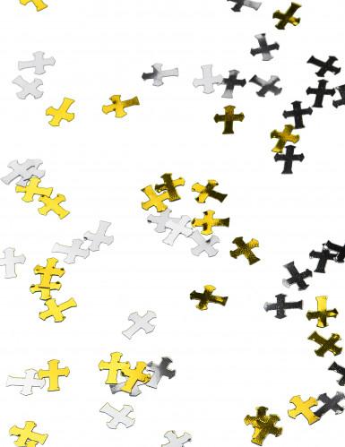Coriandoli argentati e dorati a croce