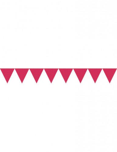 Ghirlanda di bandierine triangolari rosse-1