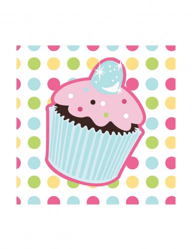 16 Tovagliolini di carta Compleanno Cupcake 25 x25 cm
