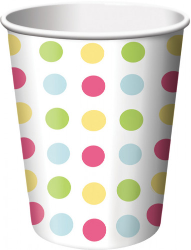 8 bicchieri di carta CupCake per compleanno