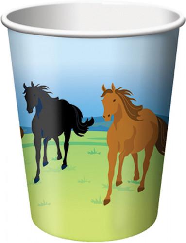 8 Bicchieri di carta Cavalli selvaggi