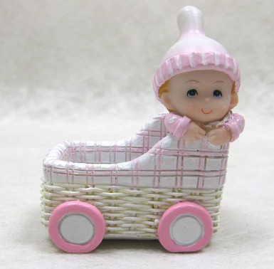 Portaoggetti in resina carrozzina bebè bimba