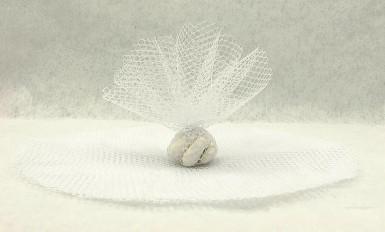 10 cerchi in tulle di colore bianco