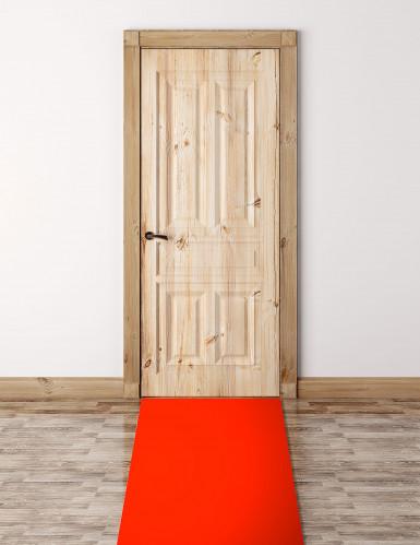 Tappeto rosso finto decorativo