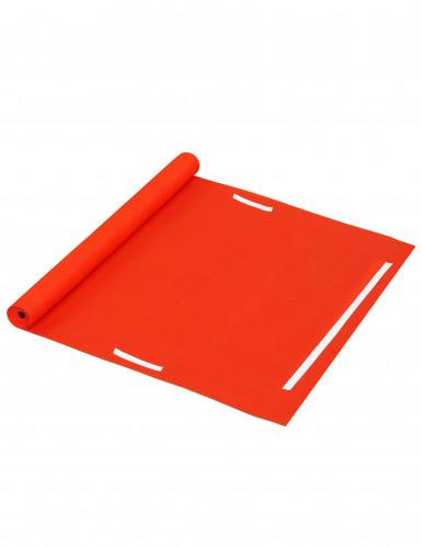 Tappeto rosso finto decorativo-2