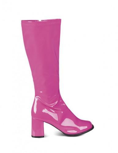 Stivali rosa lucidi da donna