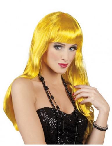 Parrucca lunga gialla per donna